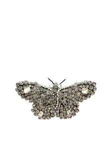 Rochas - Butterfly brooch in anthracite and silver color