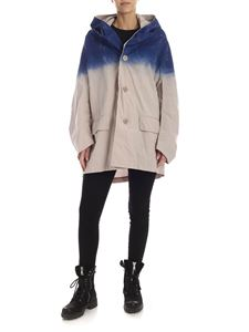 Y's Yohji Yamamoto - Faded overcoat in beige and blue