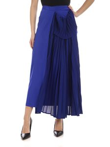 Y's Yohji Yamamoto - Pleated skirt in electric blue