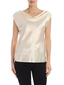 Theory - Silk satin top in ivory color