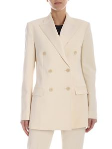 Theory - Silk lapels jacket in ivory color