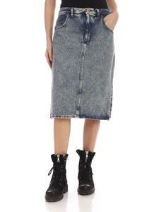 Maison Margiela - Double fabric skirt in blue denim