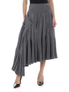 Rochas - Pleated silk skirt in grey