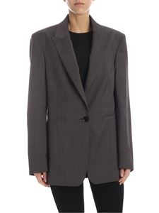Rochas - Single-breasted jacket in melange dark grey
