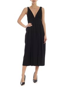 Rochas - Deep neckline dress in black