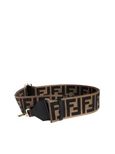 Fendi - Tracolla Strap You in canvas beige