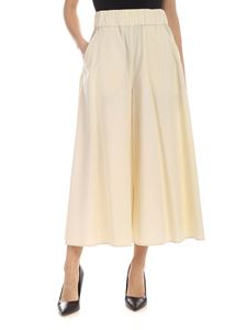 Aspesi - Wide leg pants in ivory color
