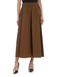 Aspesi - Wide leg pants in Army green color