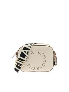 Stella McCartney - Borsa mini Camera Bag color avorio