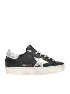 Golden Goose - Hi Star sneakers in black with laminated logo