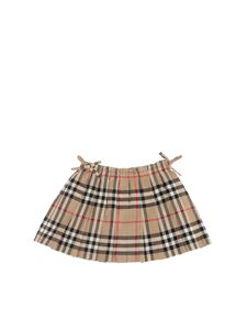 Burberry - Gonna Mini Pearly motivo Vintage Check