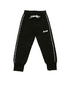 MSGM - Branded bands pants in black