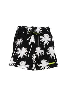 MSGM - Palm print bermuda in black