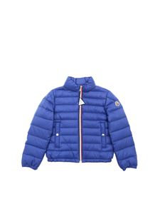 Moncler Jr - Tarn down jacket in ocean blue color