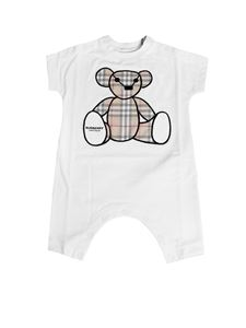 Burberry - Bear Thomas onesie in white cotton