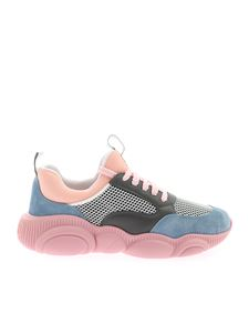 Moschino - Teddy Run sneakers in pink and grey