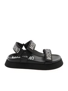 Moschino - Logo Tape sandals in black