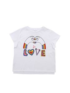 Stella McCartney Kids - Love Hands T-shirt in white