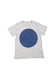 Stella McCartney Kids - Logo print T-shirt in melange grey