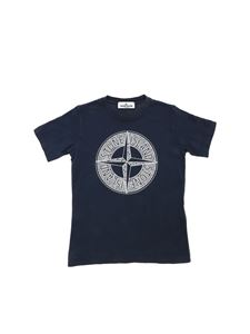 Stone Island Junior - Stone Island Compass logo T-shirt in blue