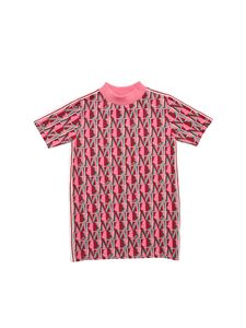 Moncler Jr - Monogram print dress in pink