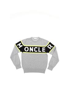 Moncler Jr - Logo inlay pullover in grey