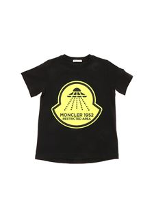 Moncler Jr - Neon print T-shirt in black