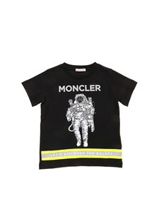Moncler Jr - Astronaut print T-shirt in black