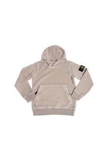 Stone Island Junior - Sand-colored hoodie