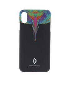 Marcelo Burlon County Of Milan - Cover Flo Wings nera per IPhone XS Max