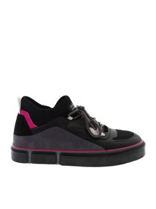 Marcelo Burlon County Of Milan - County Vulcanized Mid sneakers in black and fuchsia
