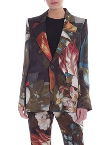 Vivienne Westwood  - Floral print satin jacket in green