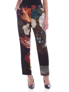 Vivienne Westwood  - Floral print satin pants in green
