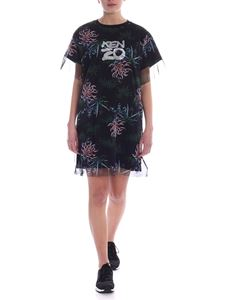 Kenzo - Sea Lily printed dress in black