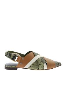 3.1 Phillip Lim - Mules Deanna in green and brown