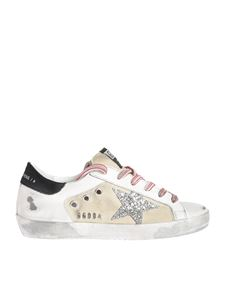 Golden Goose - Sneakers Superstar con logo glitter silver