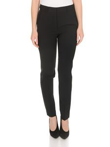 MSGM - Tuxedo pants in black with side bands