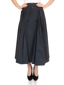 Max Mara - Cinese skirt in blue silk taffeta