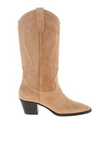 Paris Texas - Chunky heel texan boots in pink