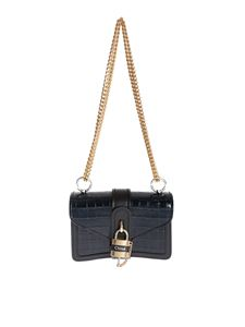 Chloé - Mini shoulder bag with Aby chain in Full Blue