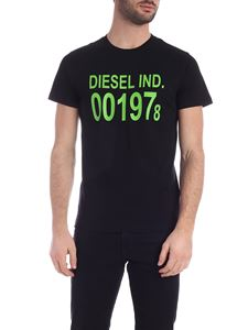 Diesel - Diego T-shirt in  black and neon green