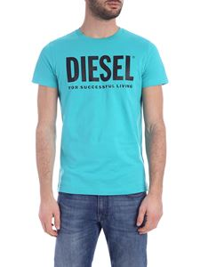 Diesel - Diego Logo T-shirt in turquoise