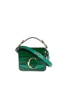 Chloé - Borsa mini Chloé C Woodsy Green