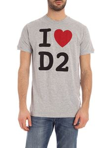 Dsquared2 - I Love D2 T-shirt in grey