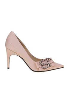 Sergio Rossi - Draped pumps in pink fabric