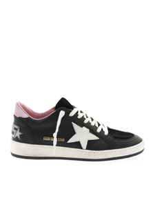 Golden Goose - Sneakers Ball Star nere con logo glitter