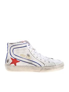 Golden Goose - Slide sneakers in white with red star