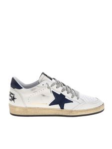 Golden Goose - Ball Star sneakers in white with cracklé details