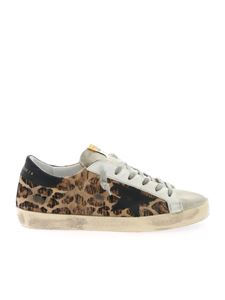 Golden Goose - Sneakers Superstar animalier stella nera