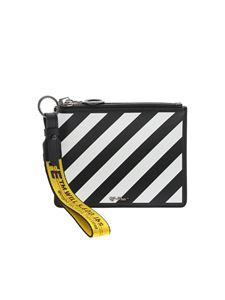 Off-White - Diag clutch bag in black